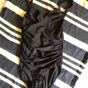 J. Crew crossover rouged swim suit 4